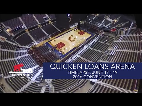 Timelapse: June 17 - 20 | Quicken Loans Arena | 2016 Republican National Convention
