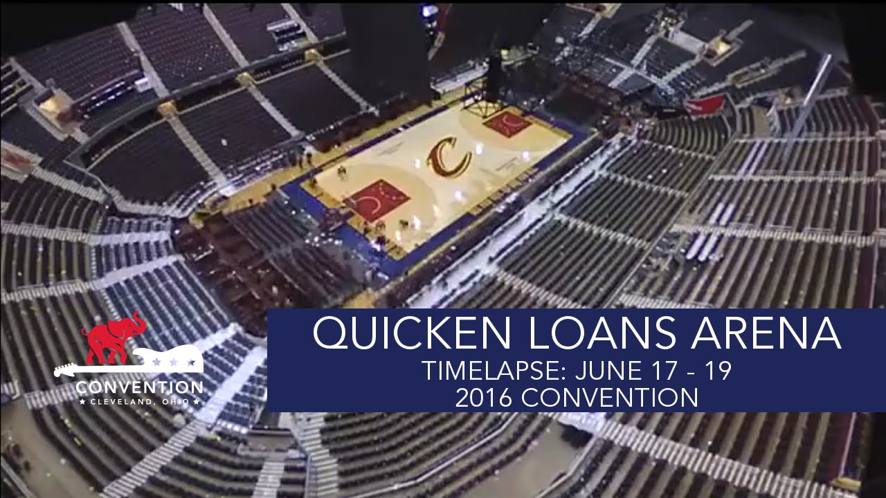 Seating charts quicken loans arena official website - Timelapse June 17 20 Quicken Loans Arena 2016 Republican National Convention