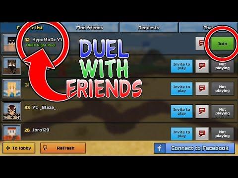 Duel With Friends In Pixel Gun 3D Glitch Tutorial