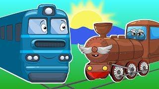Мастерская биби - Изучаем Цифры и Поезда Для Детей. Развивающее Видео Про Железнодорожный Транспорт