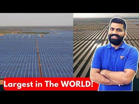 World's Largest Solar Park in India – Shakti Sthala – 2000MW of Solar Power!!
