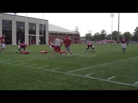 Alabama linebackers practice 2013 CJ Mosley