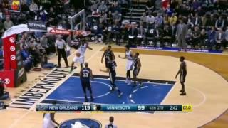 Andrew Wiggins Slam Dunk vs New Orleans Pelicans Feb 10 2017