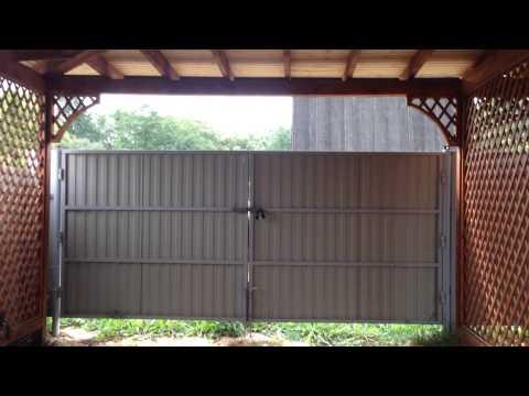 Дом из бруса 150 мм  Навес для авто со шпалерами   Видео дома размером 7х7  Строительство дома