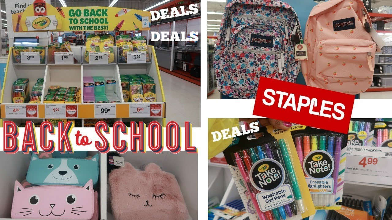 """Download """"STAPLES"""" BACK TO SCHOOL SUPPLIES 2019 * SHOP WITH ME / DEALS"""