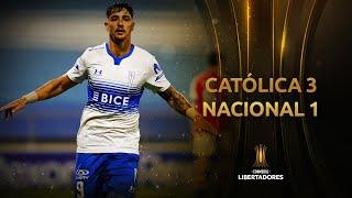 Universidad Católica vs. Nacional [3-1] | RESUMEN | Fecha 3 | CONMEBOL Libertadores 2021