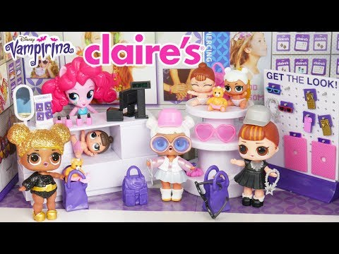 LOL Surprise Dolls Visit Claire's for Shopping Routine