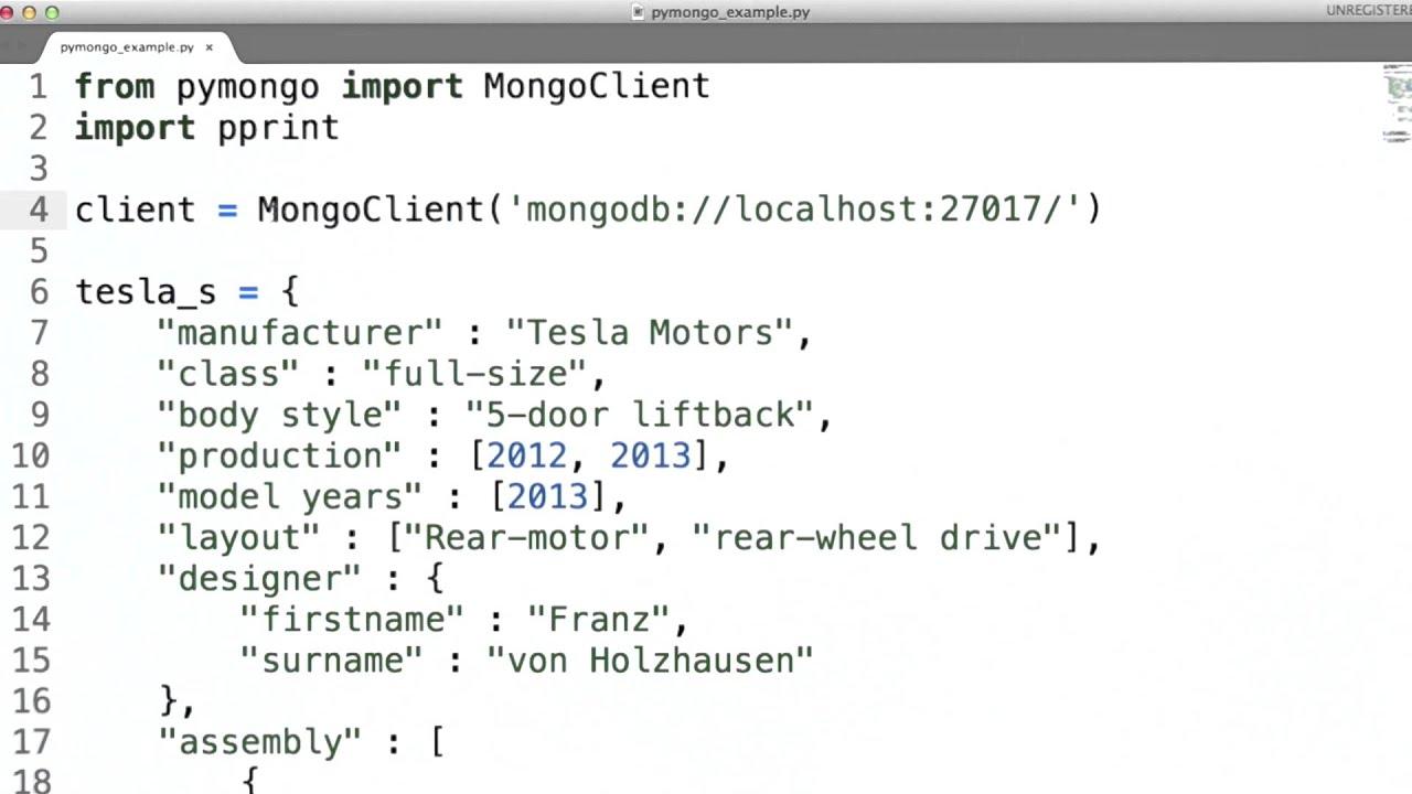Intro To Pymongo Data Wranging With Mongodb Youtube