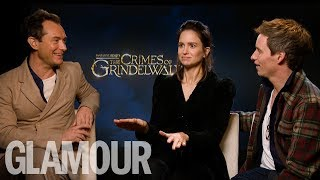 Fantastic Beasts Cast Decide: Is Kris Jenner The NEW Dumbledore? In Funny Interview| GLAMOUR UK