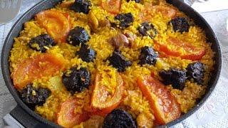 Рис в духовке с курицей. Испанская кухня