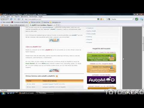 1. Tutorial Foro phpBB // Descarga del Paquete