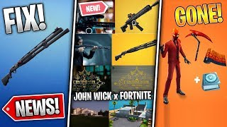 John Wick Season Event , Shotgun Fix, 9.10 Fixes, Pack Removed! (Fortnite News)