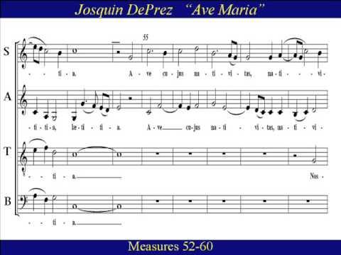 tenor-ave-maria-des-prez-score