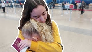 Emotional Goodbye at the Airport with Roberta
