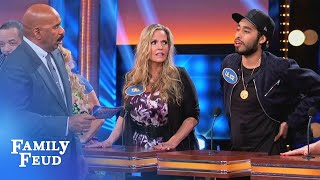 Lil Ice is running hot! | Celebrity Family Feud