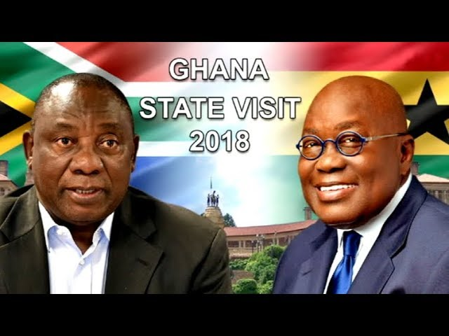 South African president Cyril Ramaphosa hosts Ghana's President Nana Addo Dankwa Akufo-Addo