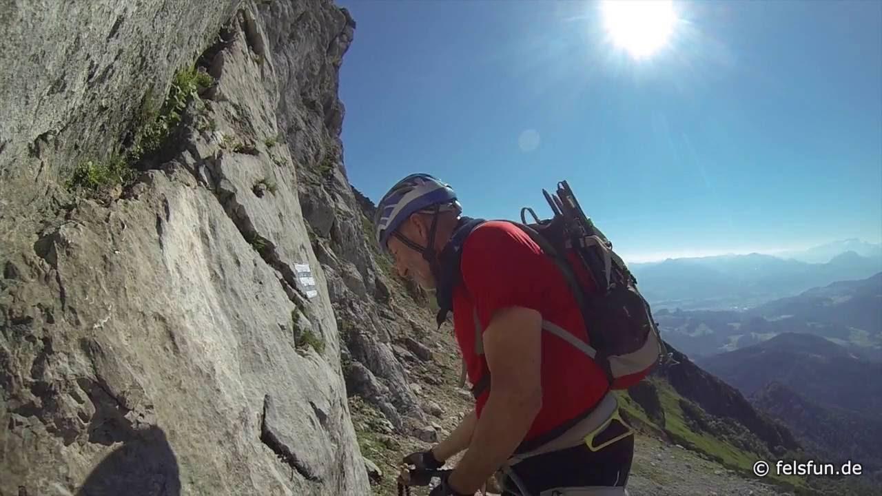 Klettersteig Hochthron : Berchtesgadener hochthron klettersteig juli youtube