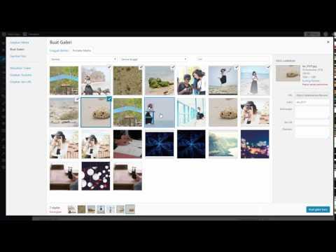 6. Tutorial Wordpress - Cara Membuat Galeri Foto pada Wordpress