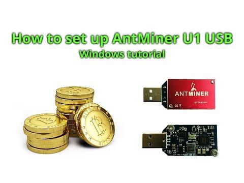 How To Set Up Bitmain AntMiner U1 USB