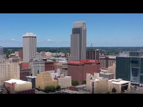 Omaha, NE by drone - July 11-12, 2020 (4K)