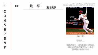 江藤智選手のポジションのアルファベットが違っているとのコメントを頂...