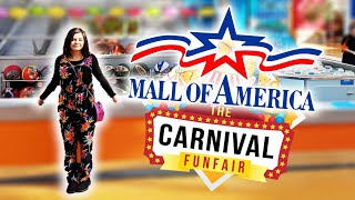 Playing Carnival Games inside The MALL OF AMERICA! ArcadeJackpotPro