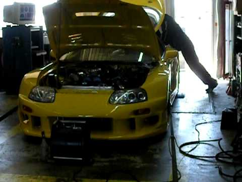 b0bbdd3a84dc Colletti Motorsports MK4 Yellow Supra Dyno 2 - YouTube