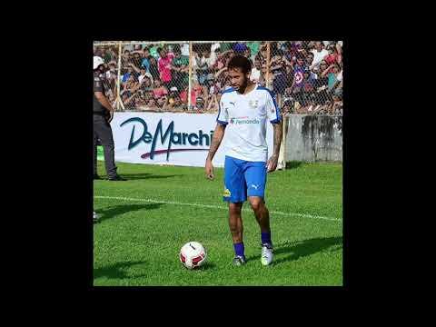 Neymar jr. nene and falcons in Brazilian charity match ligue 1 winter break in Brazil..