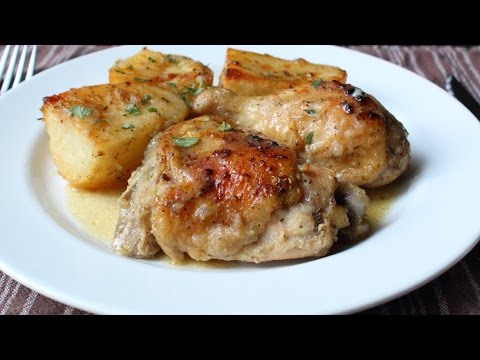 Greek Lemon Chicken & Potatoes Recipe – How to Make Greek Lemon, Garlic & Herb Chicken and Potatoes