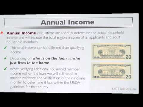 What are USDA Income Limits for the USDA Guaranteed Loan Program?