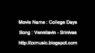 College Days Malayalam movie song Vennilavin - Srinivas