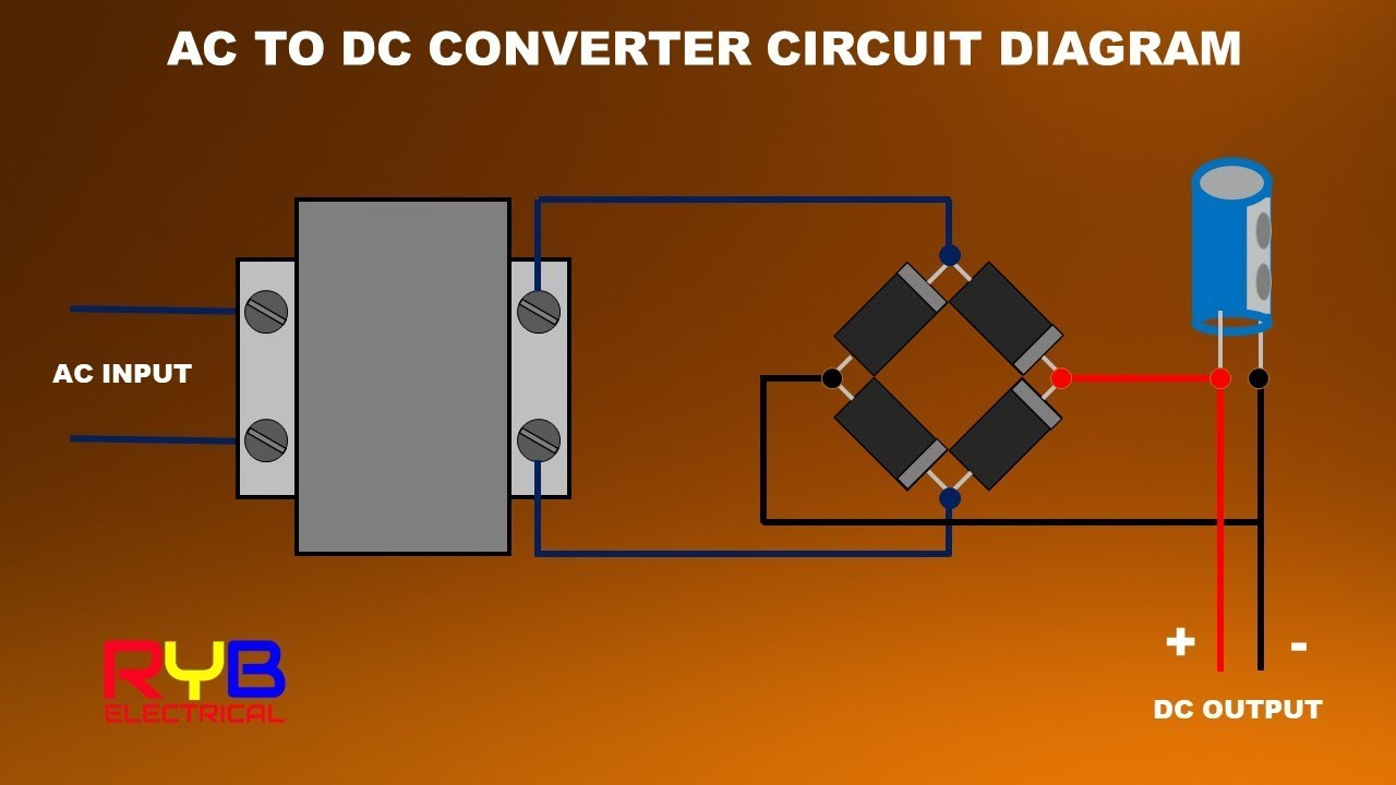How to Make AC to DC converter at Home Ac To Dc Convertor Wiring Diagram on