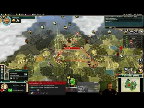 Civilization 5 Multiplayer 159: Poland ( BNW 6 Player Free For All) Gameplay/Commentary