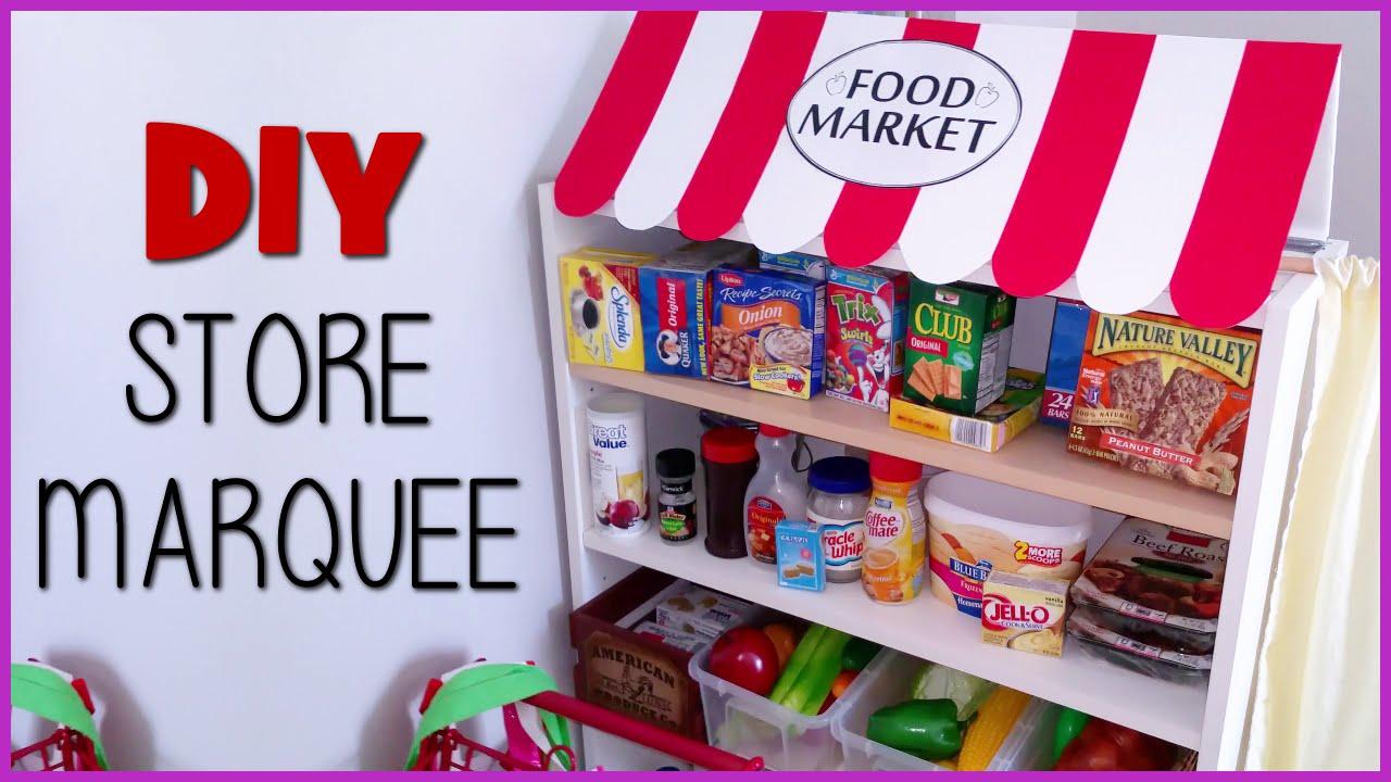 Diy Kids Play Grocery Store Marquee Playhouse Food Market Blueprint Diy Kids Ep18