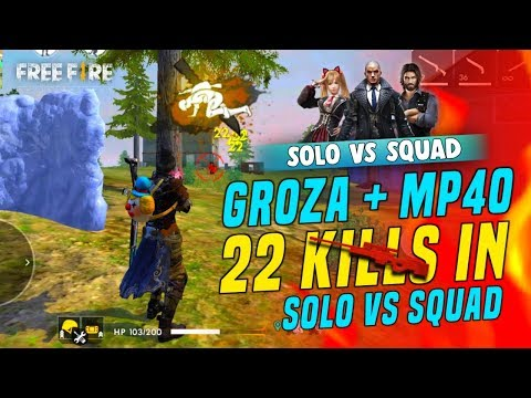 Solo Vs Squad Playing Like Hacker 22 Kills - Garena Free Fire