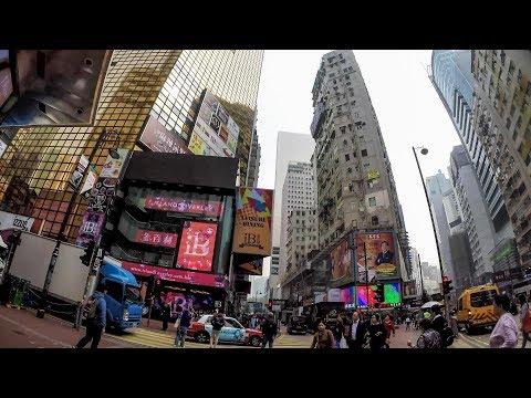 Hong Kong Daytime Walk Around Causeway Bay and Times Square