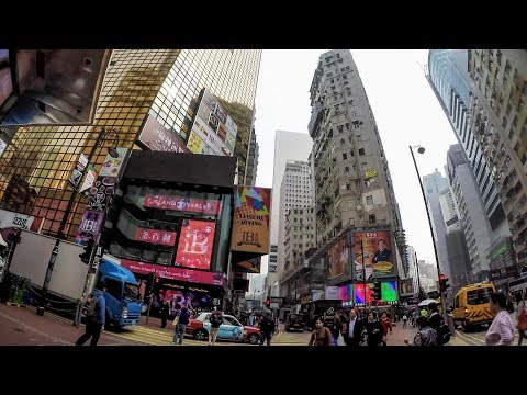 Hong Kong Daytime Walk Around Causeway Bay And Times Square