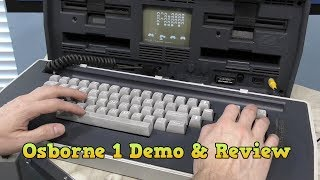Osborne 1 Computer Deel 3 - Demonstratie en Review