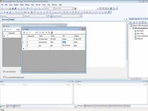 ITEC 220 VB.NET DB Lookup -Binding Source Part 1 of 2