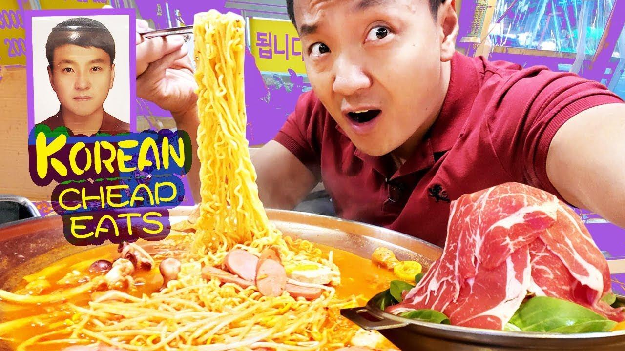 Korean CHEAP EATS Spicy ARMY STEW & Kpop Passport Photo in Seoul
