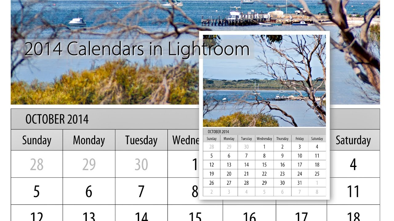 Calendar Templates Lightroom Red Photographic Lr Calendar Templates Make A 2015 2016 Calendar In Lightroom Youtube