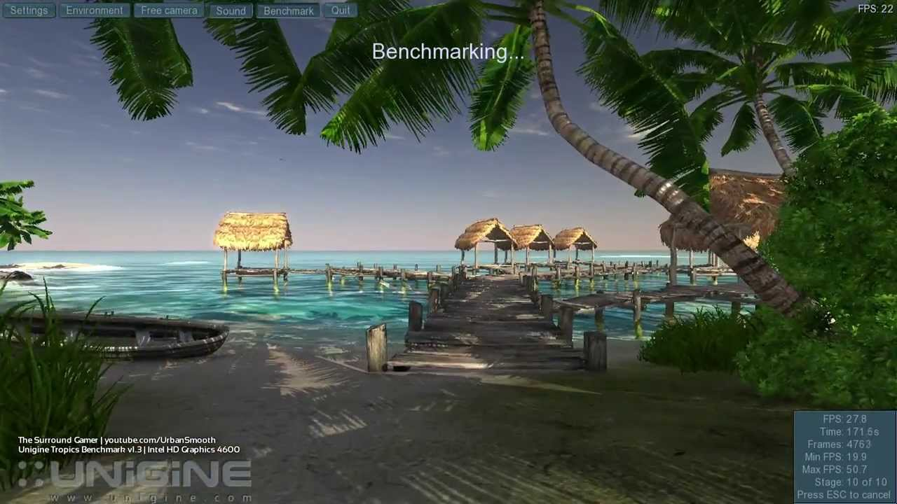 unigine tropics demo v1.3