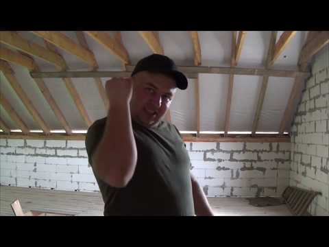 видео: МОНТАЖ КОНЬКА КРОВЛИ СВОИМИ РУКАМИ!!!дом из газобетона своими руками!!