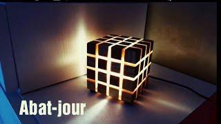 Cubo led multicolore, come realizzarlo.legno di pino e plexiglas