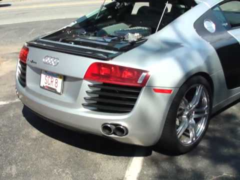 STASIS Supercharged Audi R8 INSANE Revving!!!