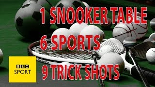 Nine trick shots, six sports, one snooker table - BBC Sport