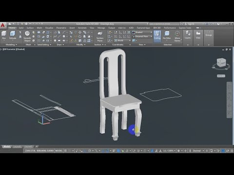 3D Chair, How To Draw Chair, AutoCAD Training