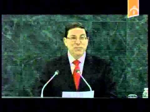 Palabras del Canciller Bruno Rodríguez en la ONU contra el bloqueo 2013