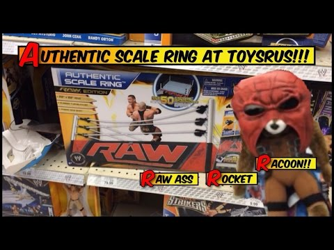 WWE ACTION INSIDER: Toysrus RACOON Attack! Authentic Scale ring! Elite 28 Mattel Wrestling figures