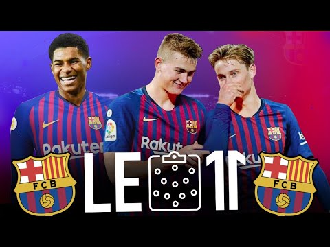 Le 11 Potentiel Incroyable Du Fc Barcelone Version 2019 2020 I Ft De Jong De Ligt Rashford Youtube